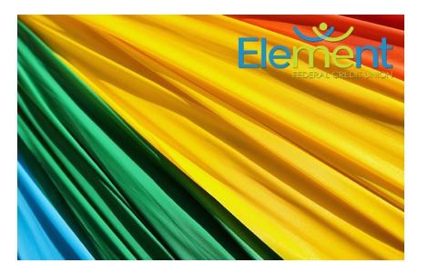 Rainbow flag closeup debit