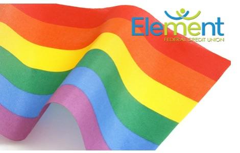 Rainbow pride flag debit