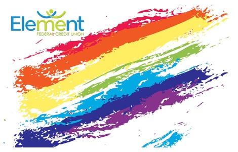 Rainbow flag grunge debit